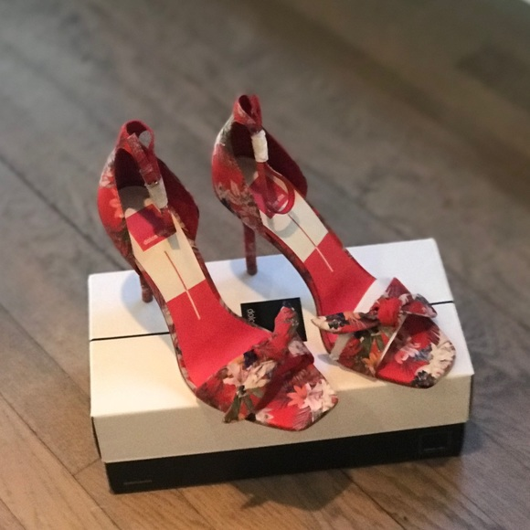 8fa542eb993 Helana Heels in red floral by Dolce Vita NWT